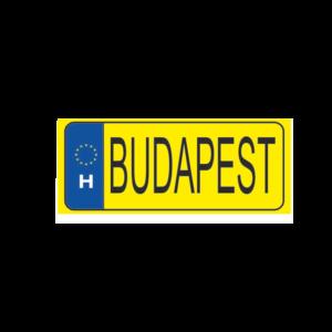 Budapest sárga hűtőmágnes termék kép