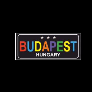 Budapest színes hűtőmágnes termék kép