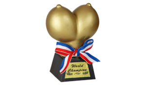 Mell - World Champion vicces trófea termék kép