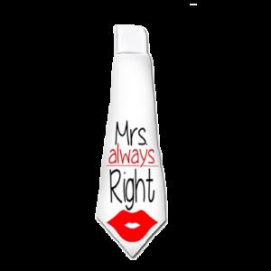 Mrs. Always Right vicces nyakkendő termék kép