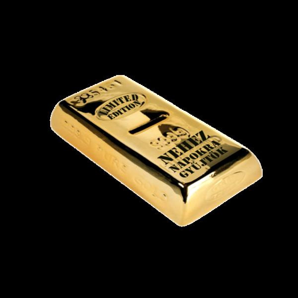 Nehéz napokra gyűjtök aranyrúd pénzgyűjtő persely termék kép