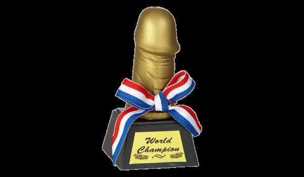 Pénisz - World Champion vicces trófea termék kép