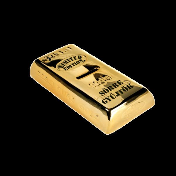 Sörre gyűjtök aranyrúd pénzgyűjtő persely termék kép