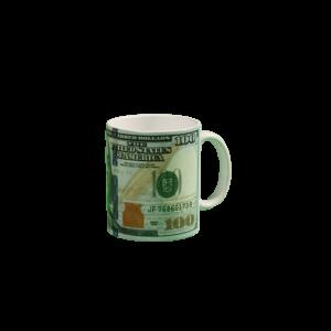 100 Dollármintás pénzes bögre termék kép
