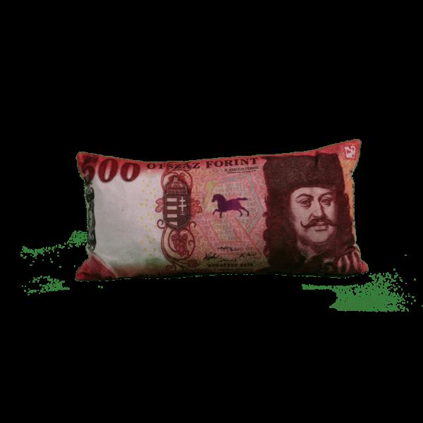 500 Ft mintás egyedi pénzes párna teremék kép
