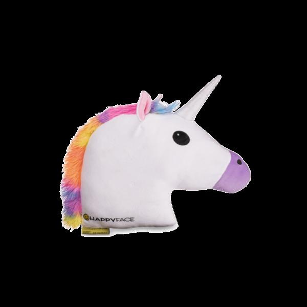 Unikornis emoji plüss Párna fehér 50 cm termék kép