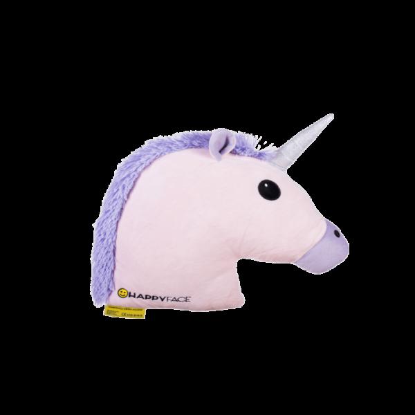 Unikornis emoji plüss Párna lila 32 cm termék kép