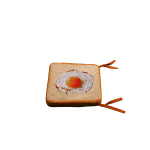 3D szögletes tojás ülőpárna termék kép