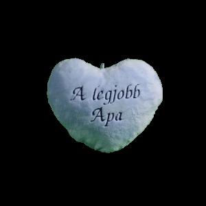 A legjobb apa szív alakú kék plüss párna kicsi termék kép