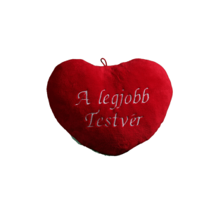 A legjobb testvér szív alakú piros plüss párna közepes termék kép