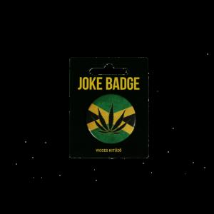 Cannabis levél vicces kitűző termék kép