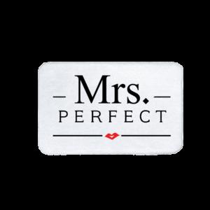 Mrs. Perfect vicces feliratos Fürdőszoba Szőnyeg termék kép