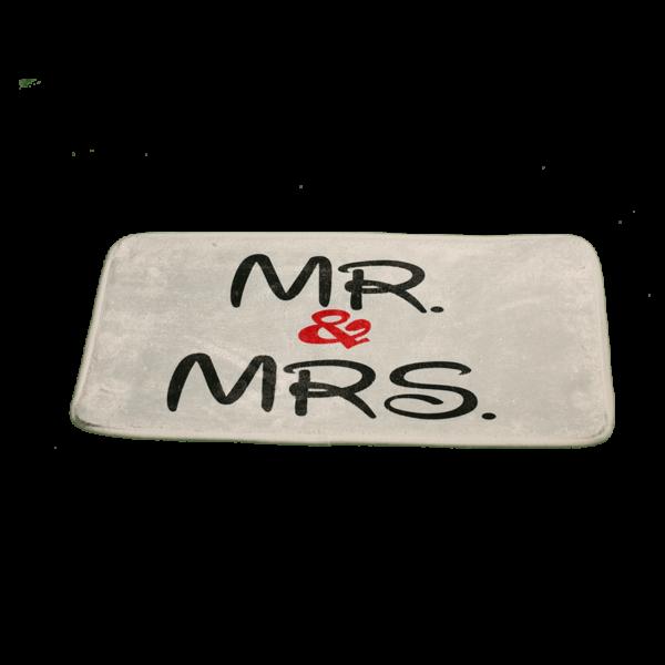 Mr & Mrs vicces feliratos Fürdőszoba Szőnyeg termék kép