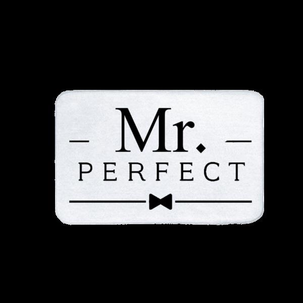 Mr. Perfect vicces feliratos Fürdőszoba Szőnyeg termék kép