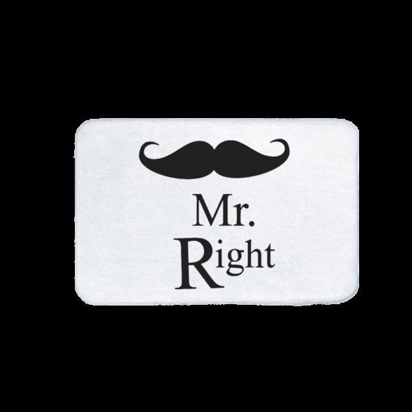 Mr. Right vicces feliratos Fürdőszoba Szőnyeg termék kép