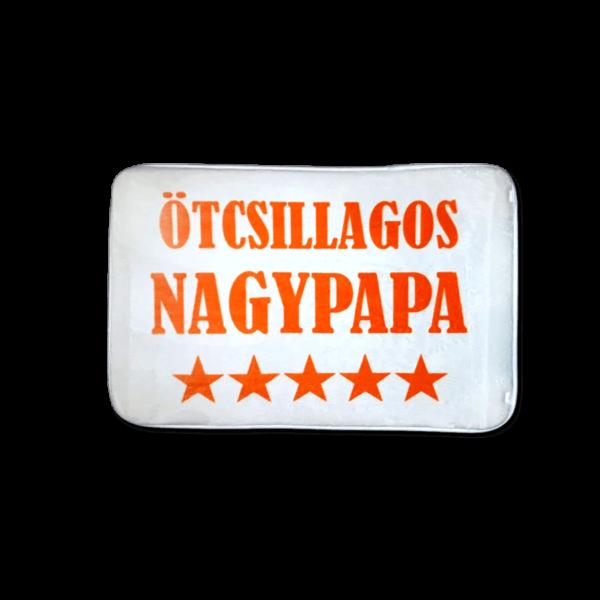 Ötcsillagos Nagypapa vicces feliratos Fürdőszoba Szőnyeg termék kép