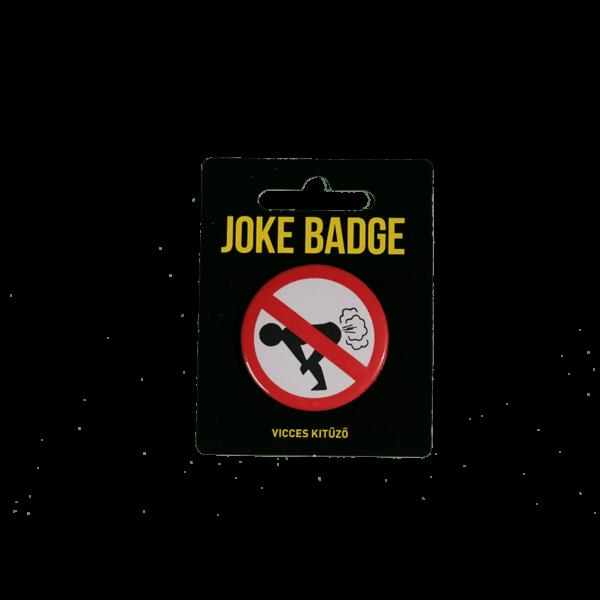 Pukizni tilos vicces kitűző termék kép