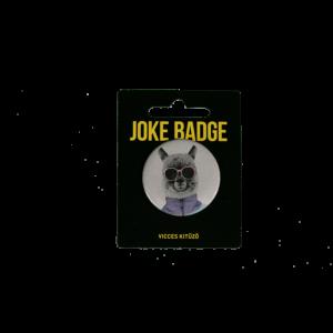 Retro alpaka vicces kitűző termék kép