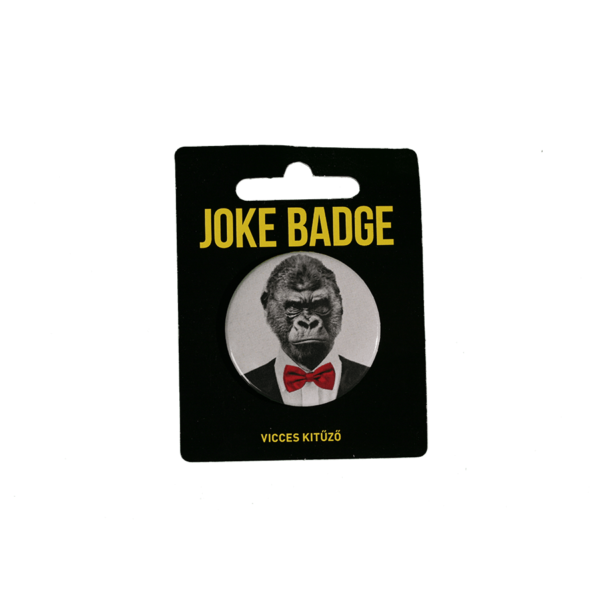 Retro gorilla vicces kitűző termék kép