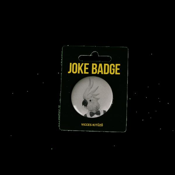 Retro kakadu vicces kitűző termék kép