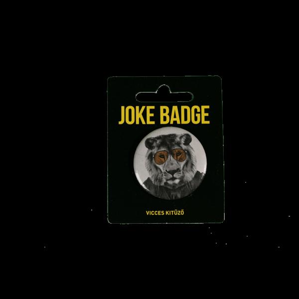 Retro oroszlán vicces kitűző termék kép
