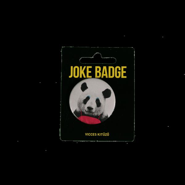 Retro panda vicces kitűző termék kép