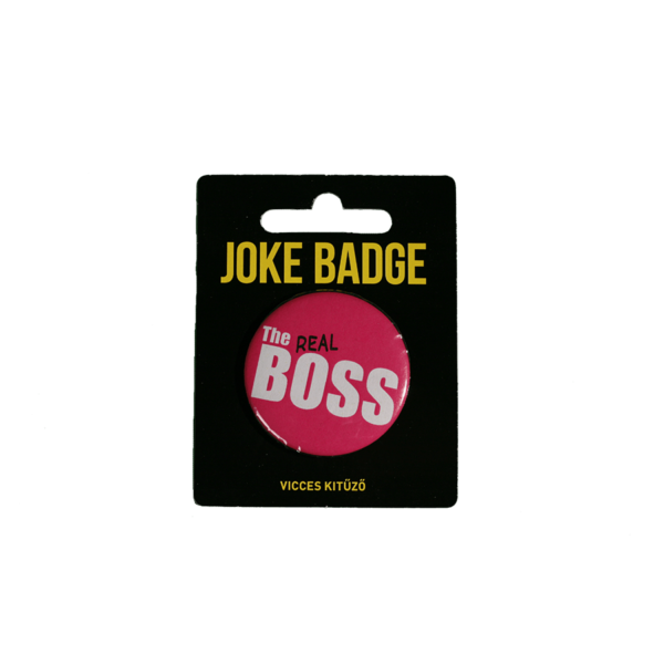 The real Boss páros kitűző termék kép