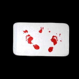 Véres lábnyom vicces feliratos Fürdőszoba Szőnyeg termék kép