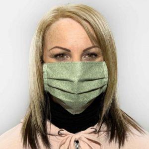 Zöld mintás színű szájmaszk termék kép