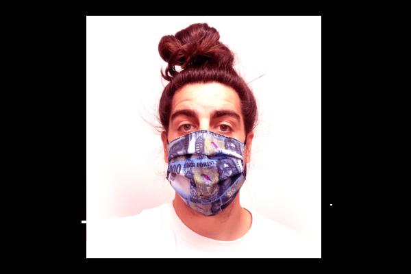 1000 Ft mintás pénzes szájmaszk termék kép