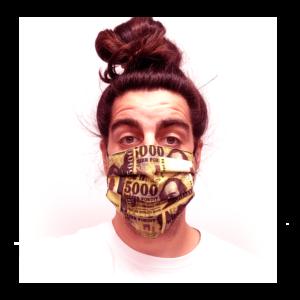 5000 Ft mintás pénzes szájmaszk termék kép