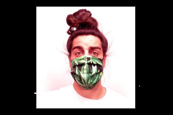 Cannabis mintás szájmaszk termék kép