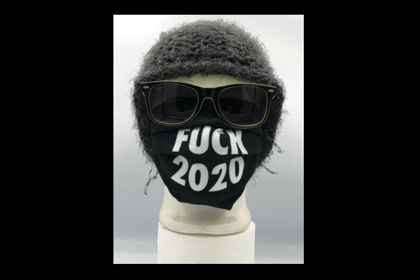 Fuck 2020 Fekete mintás szájmaszk termék kép