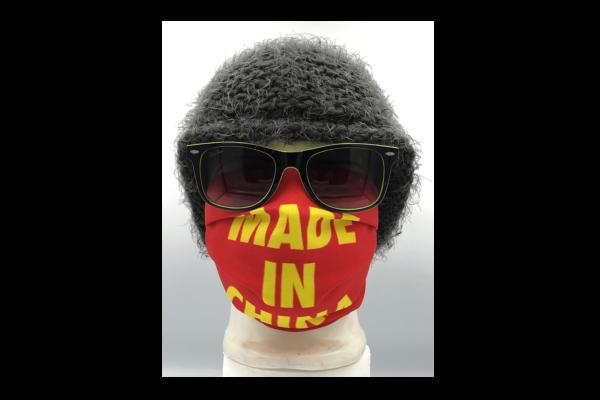 Made in China piros mintás szájmaszk termék kép
