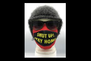 Shut up! Stay home piros mintás szájmaszk termék kép