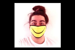 Smiley Fuck mintás szájmaszk termék kép