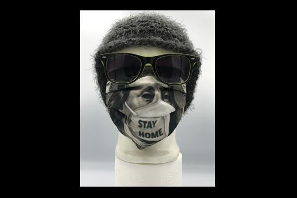Stay Home dollár mintás szájmaszk termék kép