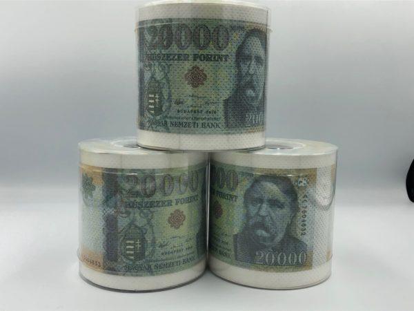 20000 Ft pénz mintás WC papír termék kép 1