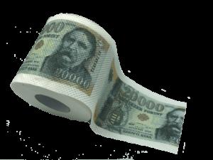 20000 Ft pénz mintás WC papír termék kép