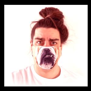 Angol Bulldog mintás sima szájmaszk termék kép