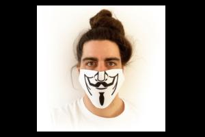 Anonymus mintás sima szájmaszk termék kép