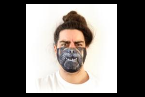Bulldog mintás sima szájmaszk termék kép
