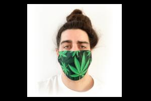 Cannabis mintás sima szájmaszk termék kép