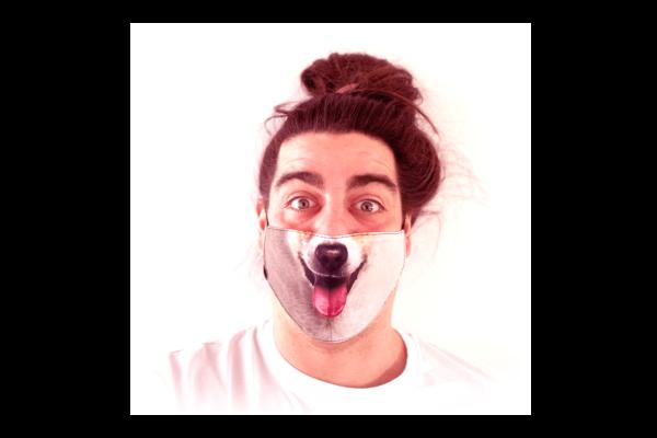 Corgi kutya mintás sima szájmaszk termék kép