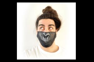 Csimpánz mintás sima szájmaszk termék kép