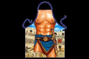 Gladiátor mintás vicces kötény termék kép
