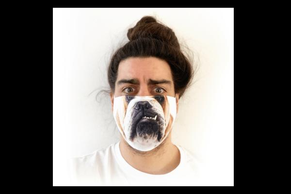 Kutya mintás sima szájmaszk termék kép