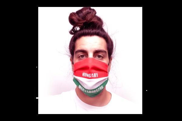 Magyar zászló mintás szájmaszk termék kép