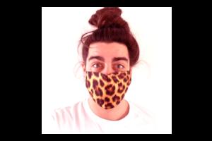 Párduc bőr mintás sima szájmaszk termék kép