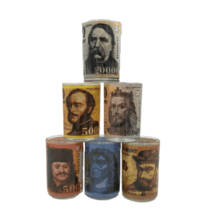 Pénz mintás feles pohár szett termék kép